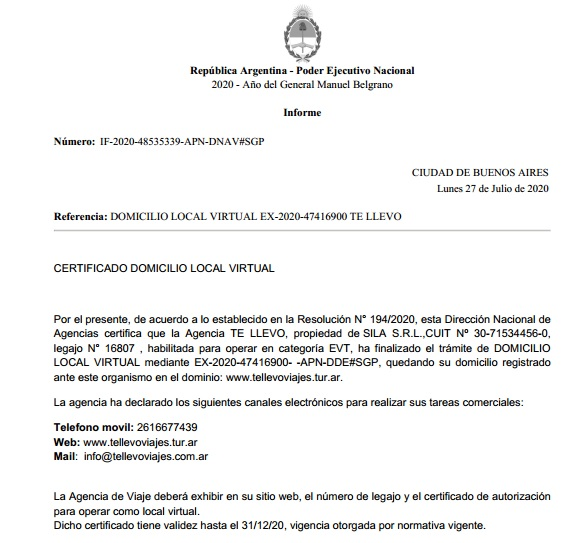 Certificado e Local Virtual